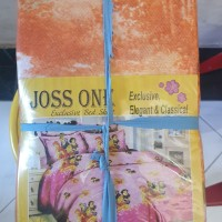 JOSS ONE Sprei Poly ukuran 140 x 200 Bantal 1 Guling 1 Bed Set Baru