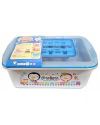 Puku Container Drying Rack 30505 - BLUE Rak Pengering Botol Susu Anak