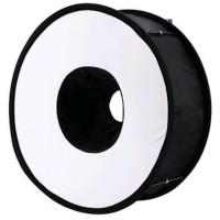 Universal Ring Softbox Flash Diffuser for Camera DSLR Canon Ni