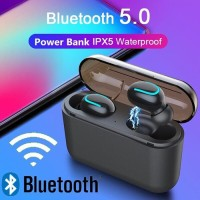 Headset Bluetooth 5.0 Sport Q32 Waterproof With Powerbank Box