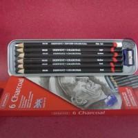 Derwent CHARCOAL TIN set 6 / pensil arang set Terlaris