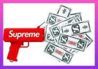 Dijual Mainan Pistol Uang Supreme Super Gun Cash Toy Untuk Acara Pesta