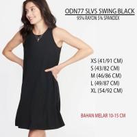 Dress Branded Wanita - OLD NAVY 77 SLVS SWING BLACK
