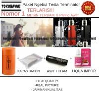 Paket Ngebul Rokok Elektrik Tesla Terminator 90Watt - Vape - Vapor