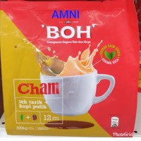BOH CHAM teh tarik plus white coffee 12stick x 27g TERMURAH
