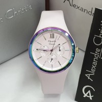 Jam Tangan Wanita Alexandre Christie 2773 Original Chronograph -Purple