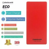 POWERBANK DELCELL RED ECO 10000MAH GARANSI ORIGINAL