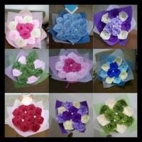 Termurah Buket Bunga Satin Handmade Hadiah Valentine Wisuda Sidang