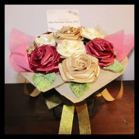 Termurah Pre-Order Buket Bunga Satin Isi 10 Tangkai / Buket Bunga