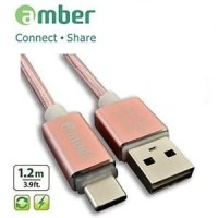 Amber MUB-L02 - LiPower Cable, USB A- Micro B, 1.2m, RoseGold