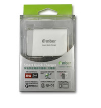 Amber APC-02 - Smart Charger with Type-C, QC 3.0, Travel Multi Plug