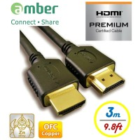 Amber HM2-AA130 - HDMI2.0b Premium 3D Ultra HD Ready, HDMI A To A Cable, 3M
