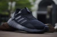 Sepatu Adidas Questar Ride Running Man / Pria Triple Black Fitness