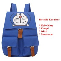 Tas Ransel Kartun Hello Kitty Doraemon Stitch Spongebob Keropi Keroppi