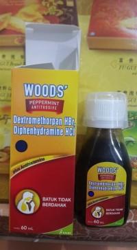 Obat Batuk Tidak Berdahak Woods' Peppermint Antitussive 60 ml