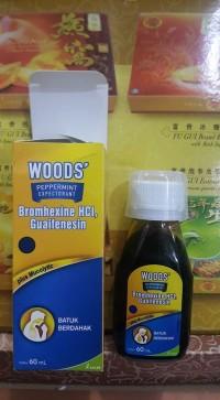 Obat Batuk Berdahak Woods' Pepermint Ekspektoran 60 ml