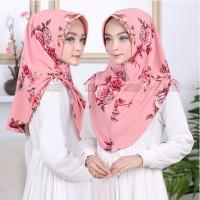 Daily Hijab ORI Bergo Mini Pet Printing Motif Bunga Rose High Quality