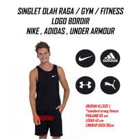 Baju Kaos Singlet Gym Fitness Nike Adidas Underarmour Puma Olahraga