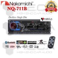 Nakamichi Nq-711B Deckless Head Unit Single Din Usb Aux Radio Mp3