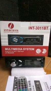 Tape Mobil Single Din Intersys Int - 3011Bt Bluetooth