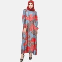 Anakara Gamis Muslim Batik- Frilly Gamis Selena- Multicolor