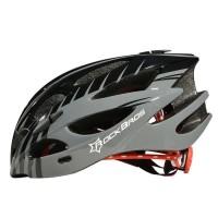 Helm sepeda warna hitam abu-abu merk Rockbros black grey