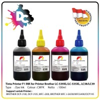 SET Tinta Printer F1 Ink for Printer Brother Seri J 100ml CMYK