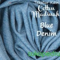 SAMBUT RAMADHAN- 1/2 Meter Kain COTTON MADINAH Blue Denim