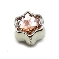 Perhiasan Liontin Charm Swarovski - Pave Edelweiss Pink by AR Hestia