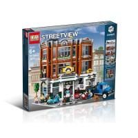 Brick Lepin 15042 Creator Expert Corner Garage 2877pcs