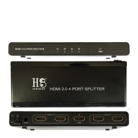 HDMI 2.0 Splitter 4 Port UHD 4K 2160P 60 Hz (HINEIGHT(H8))