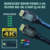 Kabel HDMI To HDMI V2.0b UHD 4K 25 Meter (HINEIGHT(H8)) - Include Optional USB Power Booster