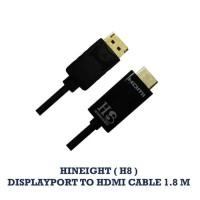 Kabel Display Port To HDMI 1.8 Meter (HINEIGHT(H8))