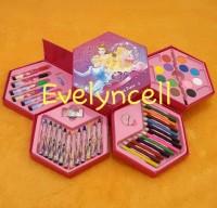 Crayon 4 In 1 Set Dengan 4 Susun Isi 46 Pcs Untuk Mewarnai Dan