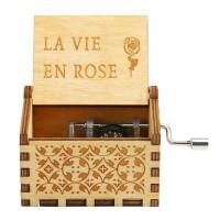 Kotak Musik La Vie En Rose Wooden Music Box Kotak Musik kayu