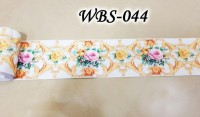 SALE RD WBS044 WHIITE N GOLD WALL BORDER STICKER KACA DINDING 10M LIST