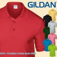 kaos polo shirt / kerah merk gildan 83800 M,L,XL origonal pure cotton