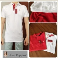 S064 NEWW Hush puppies red & white polo shirt mans original branded