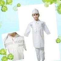 Baju Setelan Koko Pakistan Anak Putih Koko Turki Putih Anak
