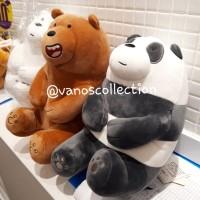 Miniso We Bare Bears Lovely sitting Plush Toy Boneka Panpan Ice bear