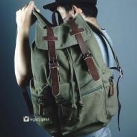Vintage Titan / Tas Ransel Kanvas / Backpack