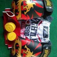 Set Celana Sarung Tinju Muay Thai MMA Fightlab made in Thailand