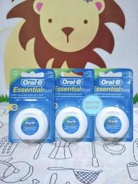 Oral B Essential Floss Mint Waxed Dental Floss 50m