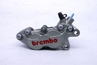 Kaliper Brembo 4 Piston 1 Pin Grey - Kanan
