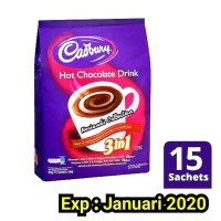 BPOM 15 SACHET Cadbury Hot Chocolate Drink 450gram / 450gr / Cadbury