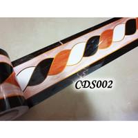 CDS002 MARMER 10M WALL BORDER GLOSSY STICKER LANTAI, KACA, DINDING