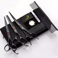 gunting sisir grooming anjing kucing hewan bulu / dog scissor set