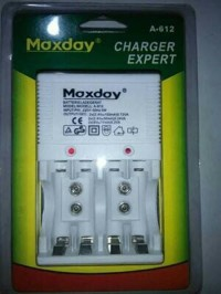 Charger maxday A 612 charger baterai batre AA - Charger AAA Limited