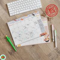 Planner Bulanan Ramen and Sushi Monthly Plan Memopad Bagus