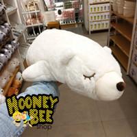Original Miniso - Boneka Beruang Lying Polar Bear Doll Plush Toy